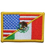 Mexican / USA Flag Patch 2x3 (Full Color) - $5.87