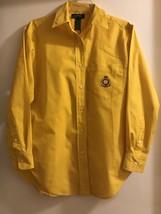 Lauren Ralph Lauren Long-Sleeve Yellow Shirt  Size 6  - $54.99