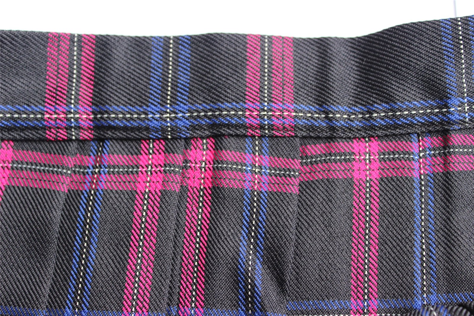 Women`s high waisted plaid short Sexy A line Skirts costumes (XL, Black mixed...