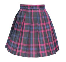 Women`s high waisted plaid short Sexy A line Skirts costumes (Medium, Bl... - $19.79