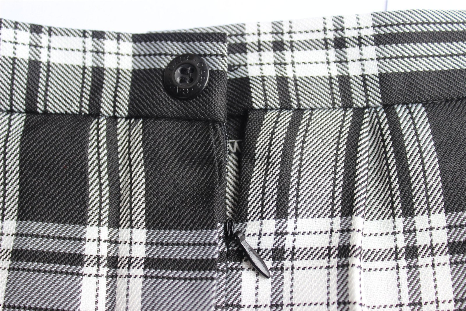Women`s high waisted plaid short Sexy A line Skirts costumes (2XL, Black mixe...