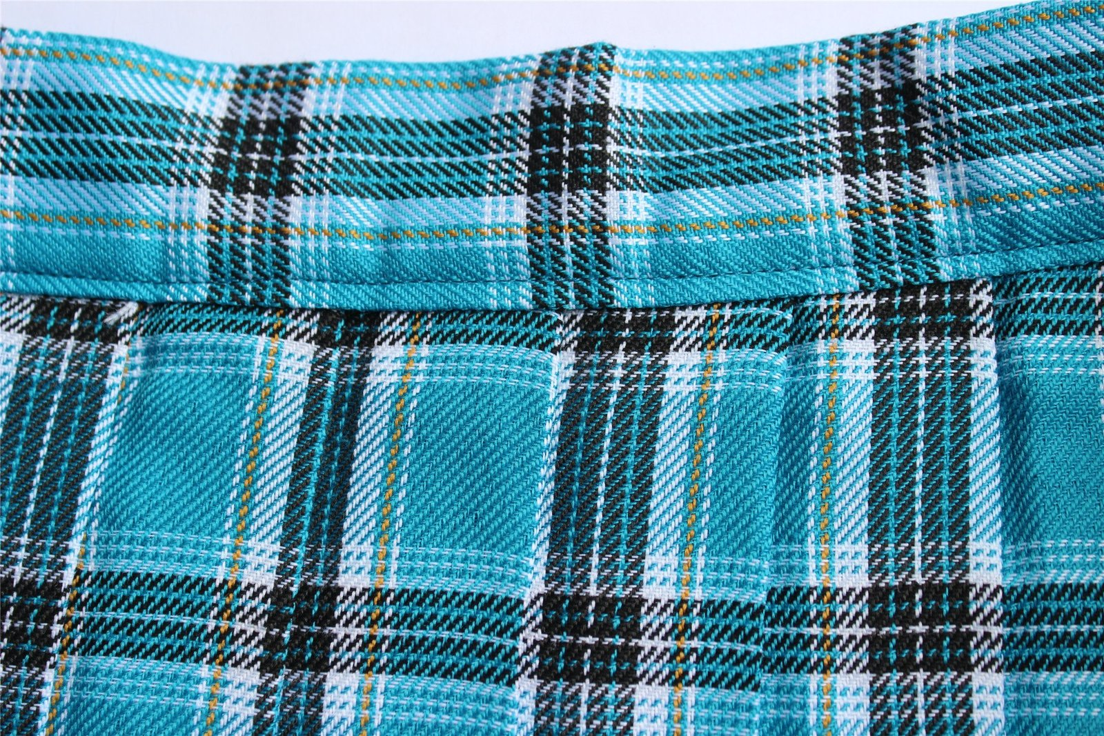 Women`s high waisted plaid short Sexy A line Skirts costumes (2XL, Blue mixed...