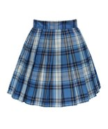 Women`s high waisted plaid short Sexy A line Skirts costumes (2XL, Blue ... - $19.79