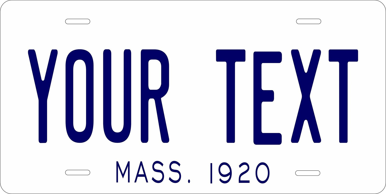 Massachusetts 1920 Personalized Tag Vehicle Car Auto License Plate