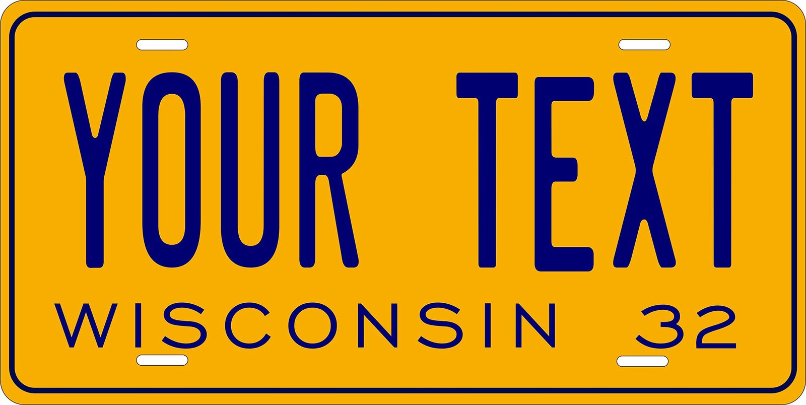 Wisconsin 1932 Personalized Tag Vehicle Car Auto License Plate