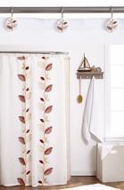 Popular Bath Alysia Ivory Leaf Collection - Fabric Shower Curtain & Hook... - $33.69