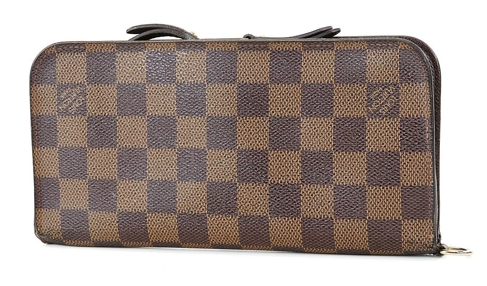 Primary image for Auth LOUIS VUITTON Insolite Damier Ebene Canvas Leather Long Wallet #37023