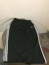 Adidas Climalite Black White Three Stripe Athletic Workout Pants XL Good... - $14.84
