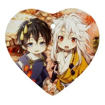 Heart Ornaments - Anime Touken Ranbu Heart Procelain Ornaments Christmas  - $4.49