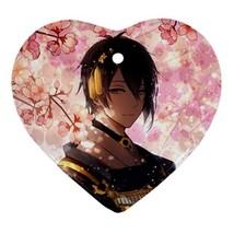 Heart Ornaments - Anime Touken Ranbu Heart Procelain Ornaments Christmas  - $4.49