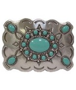 NIP Western Style with Turquoise Color Stones Belt Buckle - $17.81