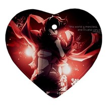 Heart Ornaments - Attack On Titan Anime Heart Procelain Ornaments Christ... - $4.49