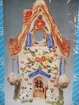 Treasured Times Porcelain Cottage House Tea Light Holder Baskets Cat Bir... - $12.99
