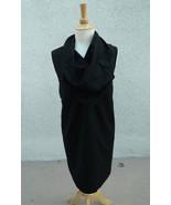 MORGANE LE FAY LORO PIANA GORGEOUS COWL NECK WOOL DRESS SZ M - $186.75