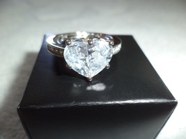 Heart Shaped Cubic Zirconia Solitarie Ring - $14.99
