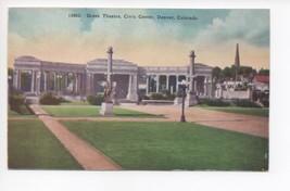 Vintage 1940s Greek Theatre Civic Center Denver Colorado CO Postcard - $20.90