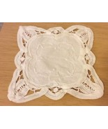 Small Cotton Embroidered Doily - $2.99