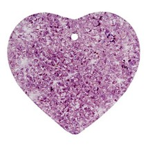 Heart Ornaments - Crystal Purple Glitter Heart Procelain Ornaments Chris... - $4.49