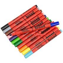 12 Assorted Colors Berol Pens Broad Colouring Felt Tip Washable Ink Scho... - $31.63