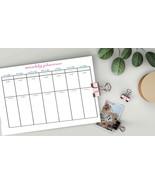 Weekly printable 2020, Weekly Planner, planner inserts, undated planner,... - $0.90