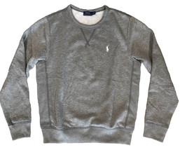 POLO RALPH LAUREN Fleece Long Sleeves Pony Icon Gray Crewneck Sweatshirt    - $30.99