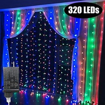 KZOBYD 320 led Curtain Lights Colorful Fairy String Lights linkable Elec... - $22.32