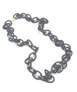 "Necklace Blue Aphradite Gemstone Gold Filled Chain Purple Silk Cord 34"" - $129.00"