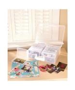 Plastic Carry Case 1600 Photo Storage Organizer Translucent with 16 Inne... - $39.98