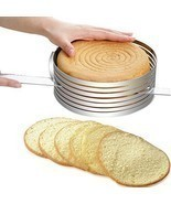 Cake Slicing Mold Mousse Stainless Steel Adjustable Ring Kitchen Gadget - £20.65 GBP