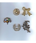Costume Jewelry Lot - Five Ladies Pins/Brooches - $19.99
