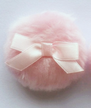 Soft Powder Puff Cotton Candy Pink Replacement Handmade Dusting Powder P... - $14.00
