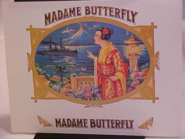 "Cigar Label ""MADAME BUTTERFLY"" Cigar Box Label - $6.95"