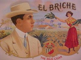 EL BRICHE-rare unique cigar box label - $4.95