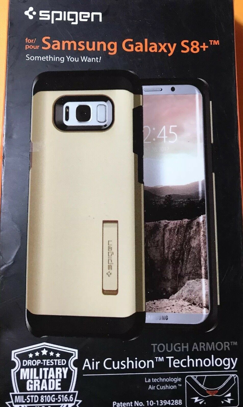 Spigen Tough Armor Galaxy S8 Plus Gold Maple Case Drop-Tested. Free Shipping!
