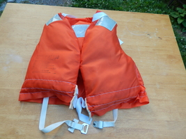 1986 Orange Life Jacket Vest Adult AF 500 Model 3 - $9.99