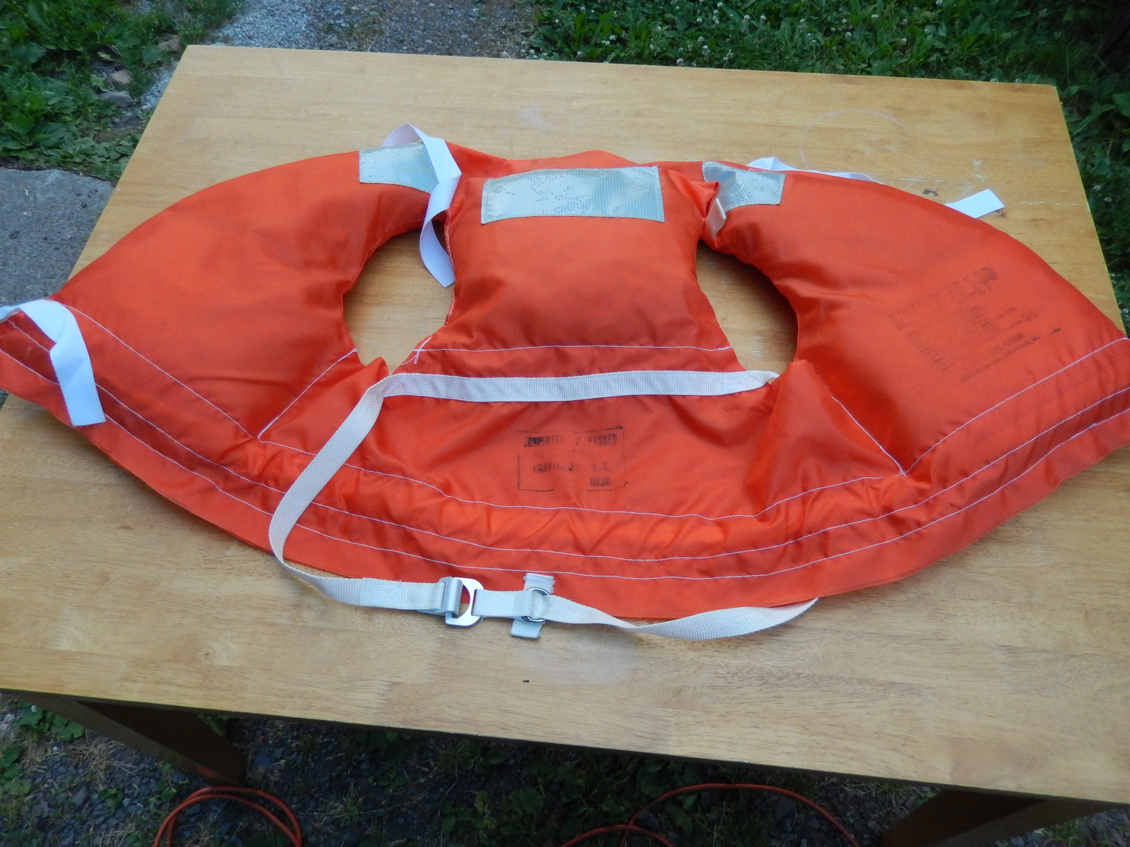 1986 Orange Life Jacket Vest Adult AF 500 Model 3