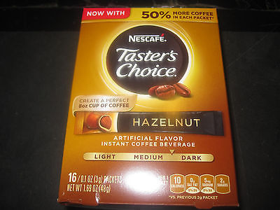 Nescafe Taster's Choice Hazelnut 2-16 Packet Boxes 3g Packets