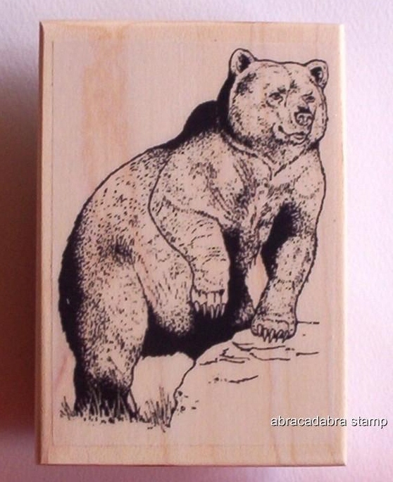 GRIZZLY BEAR new mounted rubber stamp NEW RELEASE!