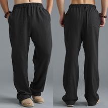 Retro Casual Basic Joggers Sweatpants Beach Pants Men Pants Straight Loose Trous - $84.90+