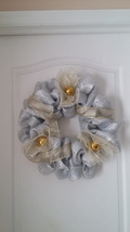 "Silver And Gold Christmas Wreath 20"". Hand Crafted In Florida By LuvnTouch - $29.99"