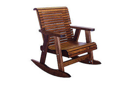 Outdoor Patio Quality Lowback Rocking Chair - Real Wood - Made in USA! - $638.55