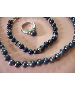 Danbury Mint Midnight kiss FW Pearls 3pc set ~N... - $38.00