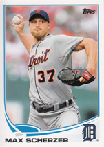 Max Scherzer 2013 Topps Series 1 Card #37 - $0.99