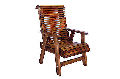 Outdoor Patio Quality Highback Chair - Real Wood - Made in USA!