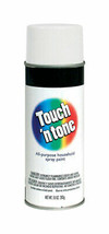 Rust-Oleum TOUCH N TONE Flat WHITE Spray Paint 10oz All-Purpose Home 552... - $12.99