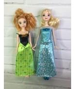 Mattel Disney Frozen Princess Elsa And Anna Sisters Fashion Doll Lot Wit... - $24.74