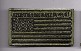 OPERATION RESOLUTE SUPPORT ORS OD FLAG 2 X 3  EMBROIDERED PATCH WITH HOO... - $15.33