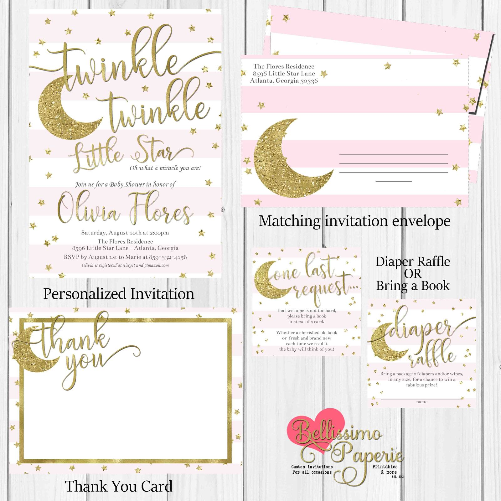 twinkle twinkle little star Baby Shower and similar items