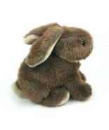 "Vintage Dakin 1986 Bunny Rabbit Sitting 9"" Brown Plush Stuffed Animal Fl... - $30.69"