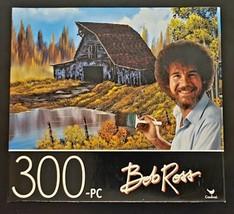 "BOB ROSS RUSTIC BARN 300 PIECE JIGSAW PUZZLE 14""X11"" SAME-DAY FREE SHIP - $6.85"